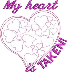 My Heart Is Taken embroidery design