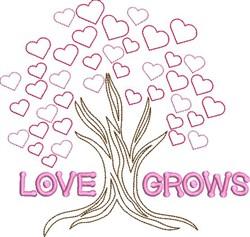 Love Grow Valentine Tree embroidery design