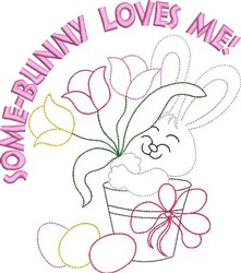 Some-Bunny Loves Me embroidery design
