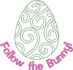 Follow The Bunny embroidery design