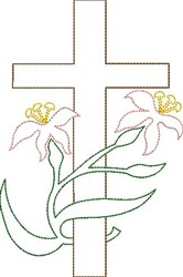 Lily Cross embroidery design