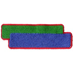 Overlapping Rectangles embroidery design