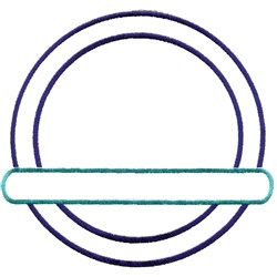 Circle Frame Outline embroidery design