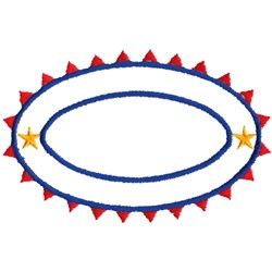 Sunburst Oval Outline embroidery design