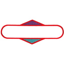 Rounded Rectangle over Diamond Outline embroidery design
