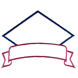 Diamond and Banner embroidery design