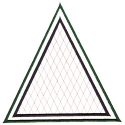 Triangles and Lines embroidery design