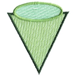 Triangle and Oval embroidery design