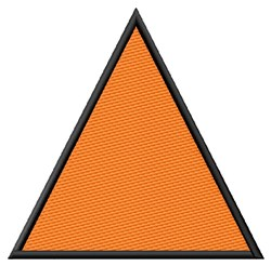 Filled Equilateral Triangle embroidery design