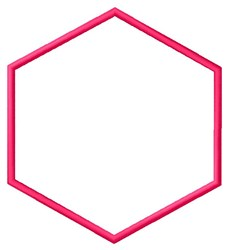 Hexagon Shape embroidery design
