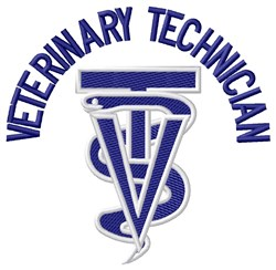 Veterinary Technician embroidery design