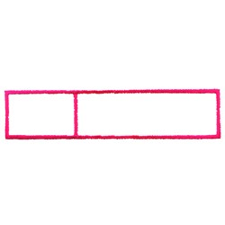 Divided Rectangle embroidery design
