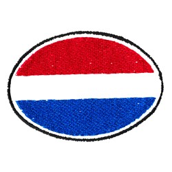 Oval Flag embroidery design