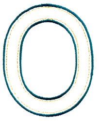 Double Oval Outline embroidery design