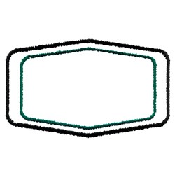 Bulgy Rectangle Border embroidery design