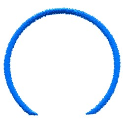 Circled Swoosh Outline embroidery design