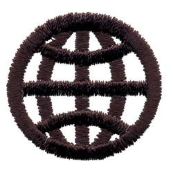 Logo Globe embroidery design