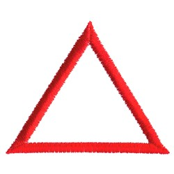 Logo Triangle embroidery design