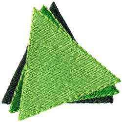 Layered Triangles embroidery design