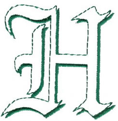 Lord H embroidery design