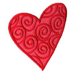 Retro Heart embroidery design