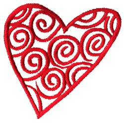 Heart Outline embroidery design