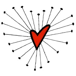 Funky Heart embroidery design