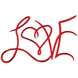 Love text embroidery design