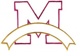 Athletic Banner M embroidery design