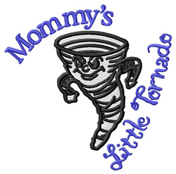 Mommys Little Tornado embroidery design