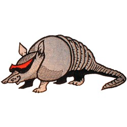Cool Armadillo embroidery design