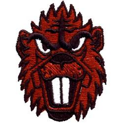 Beaver Head embroidery design