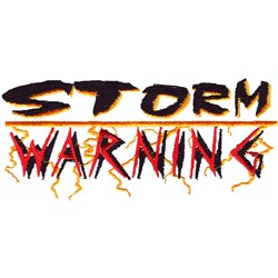 Storm Warning embroidery design