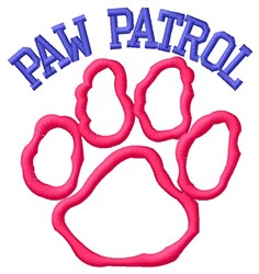 Dog Paw Outline Patrol embroidery design