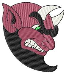 Devil Head embroidery design