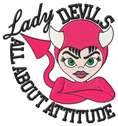 Lady Devil Attitude embroidery design