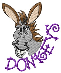 Donkeys embroidery design