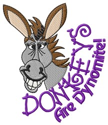 Dynomite Donkeys embroidery design