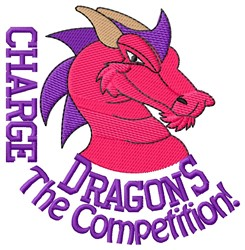 Charge Dragons embroidery design