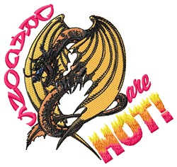 Hot Dragons embroidery design