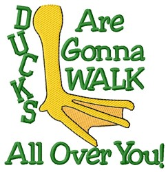 Walk Over You embroidery design
