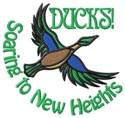 Soaring Ducks embroidery design