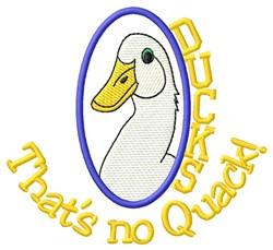 Duck Quack embroidery design