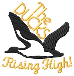 Rising High embroidery design