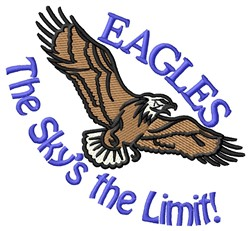 Eagles The Limit embroidery design