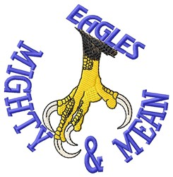 Mighty Eagles embroidery design