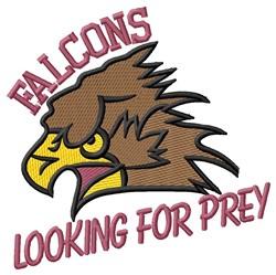 Falcons Prey embroidery design