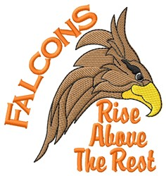 Falcons Rise Above embroidery design