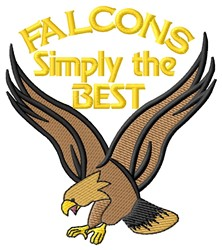 Falcons The Best embroidery design