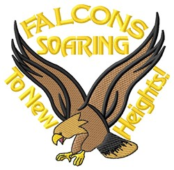 Soaring Falcons embroidery design